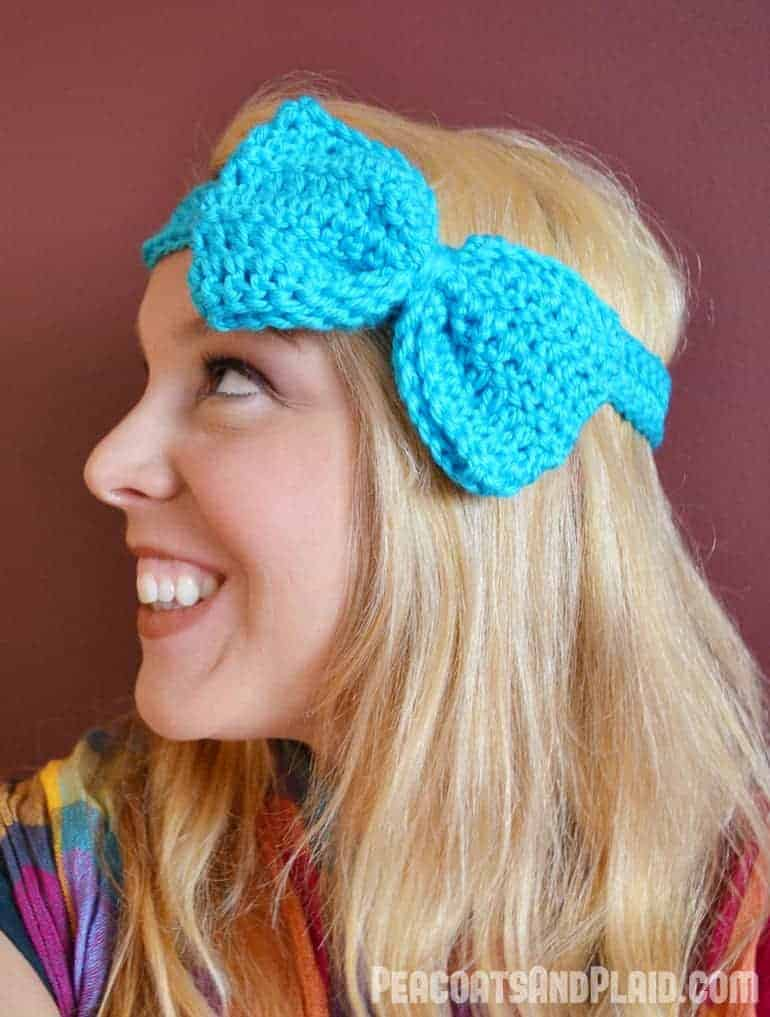 Pattern Crochet Bow Headband Bre Pea