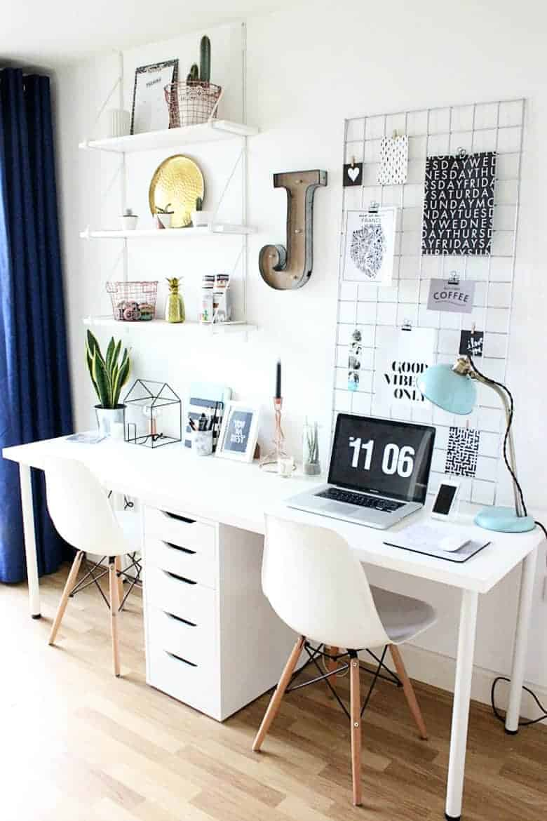 Lust-Worthy Blog Home Office Decor Inspiration | Bre Pea
