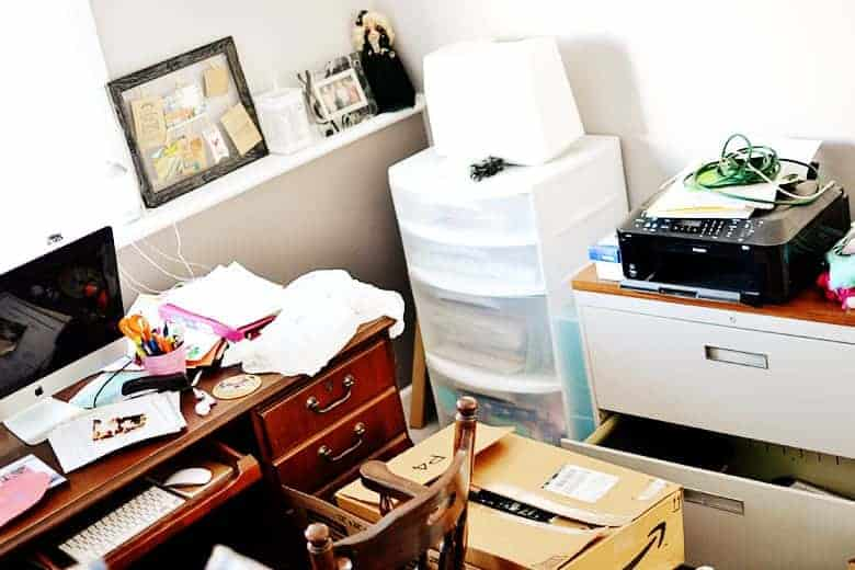 office decor inspiration. Home-office-organization-before-2 Office Decor Inspiration