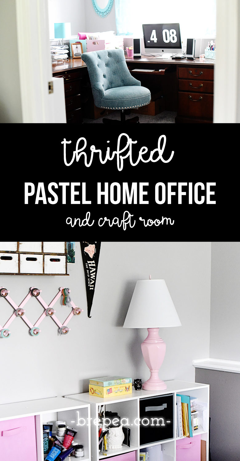 This Thrifted Home Office Was Put Together With Many Repurposed Pieces Made Over
