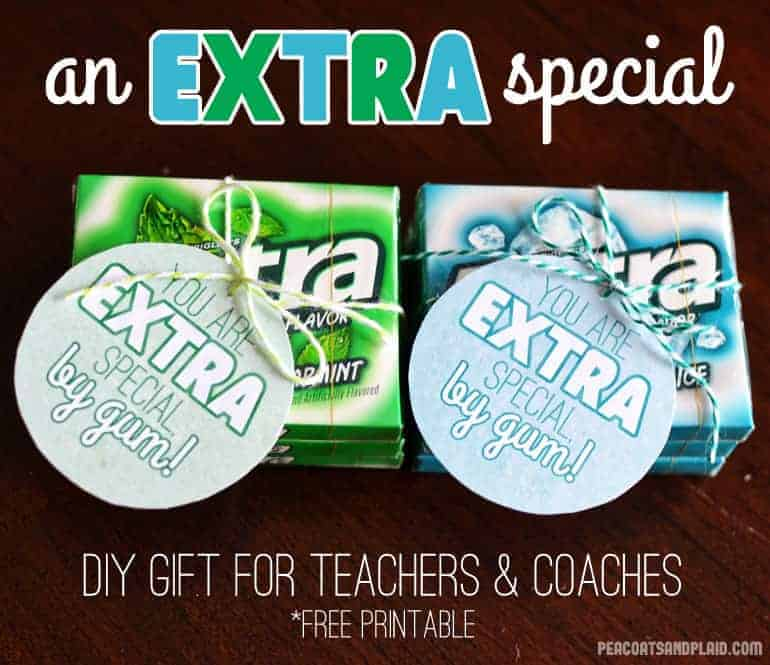 photograph regarding Extra Gum Teacher Appreciation Printable referred to as Oneself are A lot more Unique\