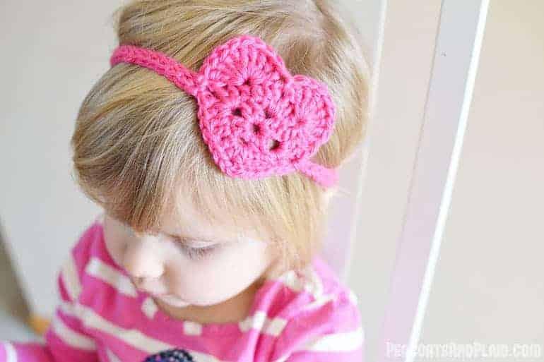 Kid S Crochet Heart Headwrap Bre Pea