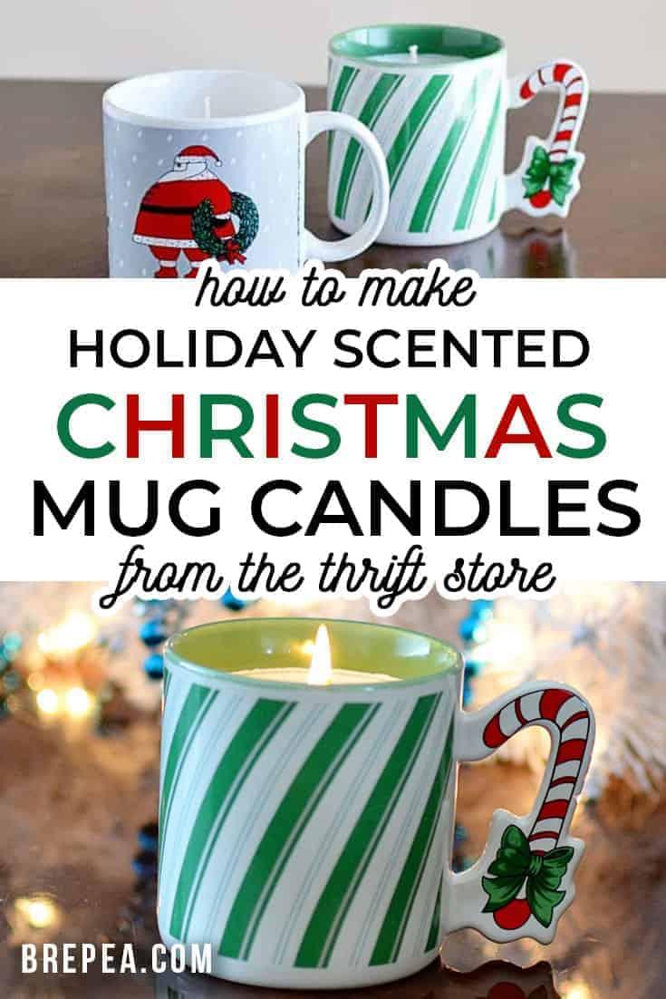 Thrift Store Diy Christmas Mug Candles Bre Pea