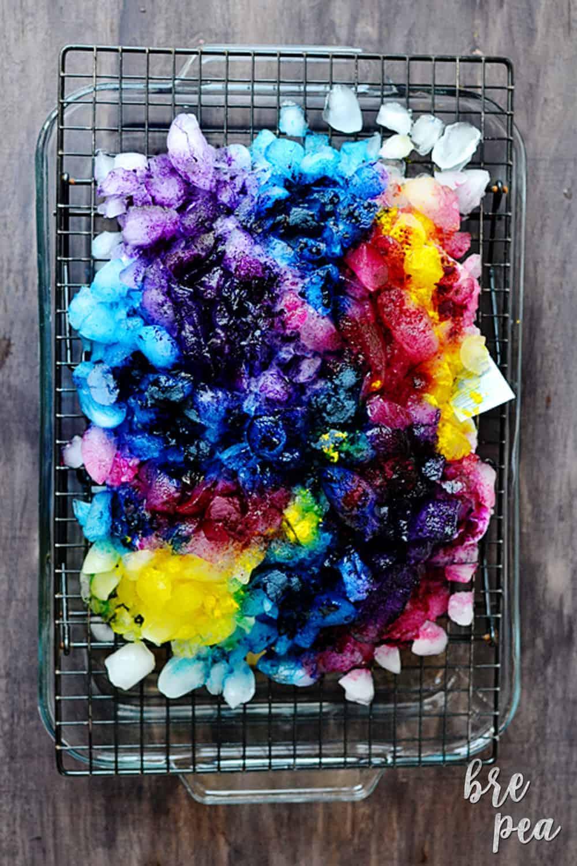 Ice Tie Dye Technique How To Tie Dye With Ice Bre Pea