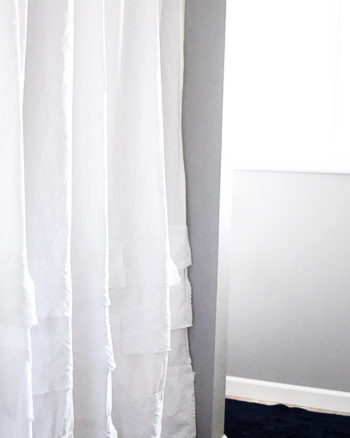 High End Knock Off: Thrift Store DIY Shower Curtain