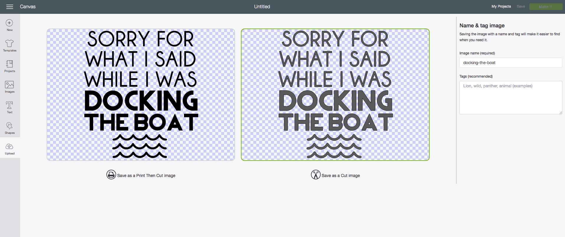 Funny Boating T-Shirt [No Bleed, No Fail DIY Freezer Paper