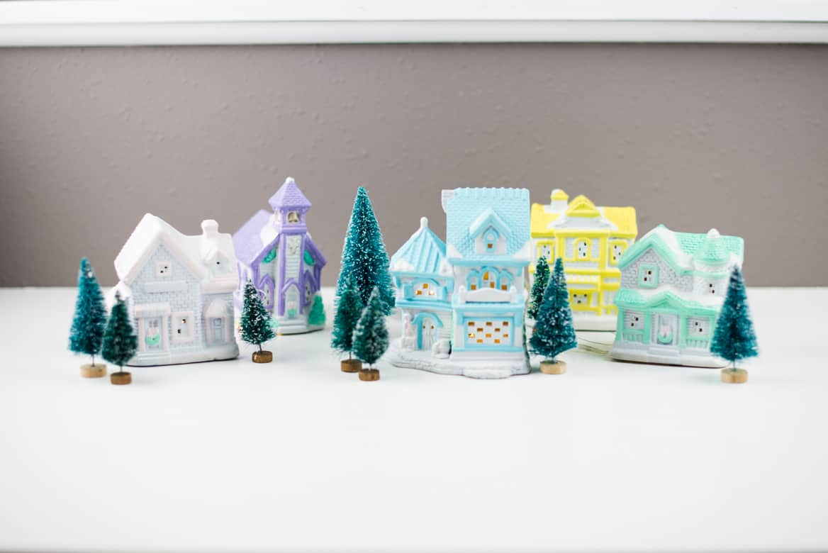 Diy Christmas Village Houses Thrift Store Upcycle Project