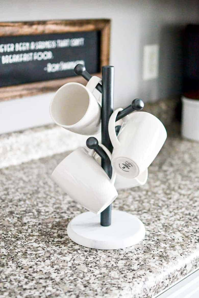 Faux Marble Thrift Store Coffee Mug Tree Diy Makeover Bre Pea
